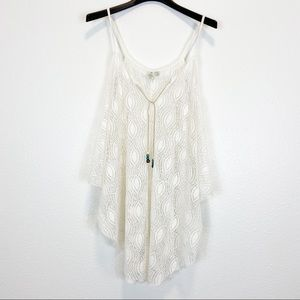 Saint Tropez West Lacey Crocheted White Cover Up